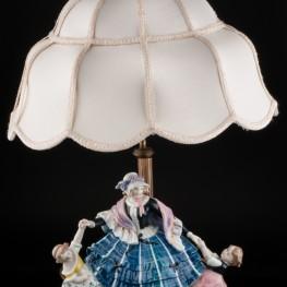 Лампа Дама с девочками, Karl Ens, Германия, 1920-30 гг
