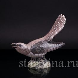 Статуэтка птицы из фарфора Кукушка, Dahl Jensen, Дания.