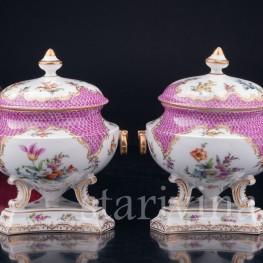Парные вазы с крышками, Дрезден, Германия, 19 в