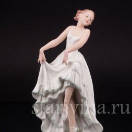 Фарфоровая статуэтка Балерина, Pirkenhammer Чехословакия, 1918-1938 гг.